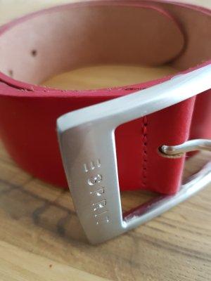 Esprit Leder Gürtel Rot 80 cm
