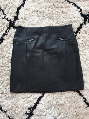 Esprit Leather Skirt black imitation leather