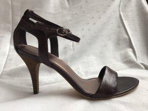 esprit collection Sandaletto con tacco alto marrone scuro