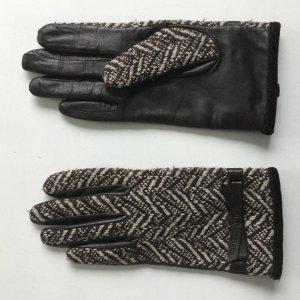 ESPRIT, Leder / Tweed Handschuhe , Gr. M