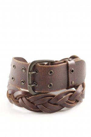 Esprit Cintura di pelle marrone stile classico