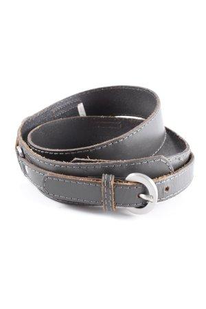 Esprit Cintura di pelle grigio scuro stile casual