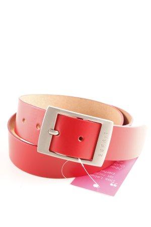 Esprit Leather Belt dark red casual look