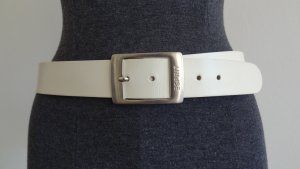 Esprit Leather Belt white leather