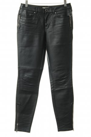 Esprit Lederhose schwarz Casual-Look