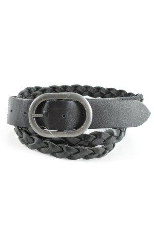 Esprit Faux Leather Belt black cable stitch casual look