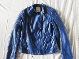 Esprit Biker Jacket blue imitation leather