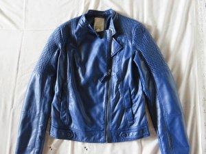 Esprit Veste motard bleu faux cuir