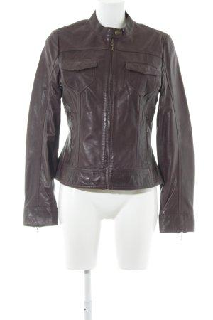 Esprit Lederjacke braunrot Vintage-Look