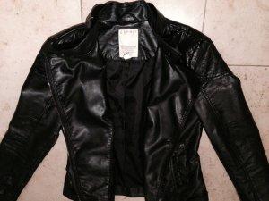 Esprit Lederjacke Größe 36 in schwarz