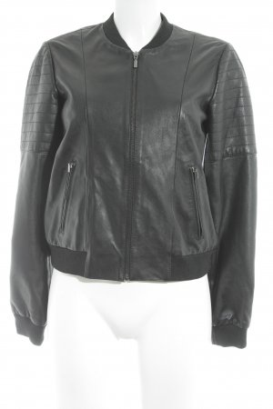 Esprit Leather Jacket black classic style
