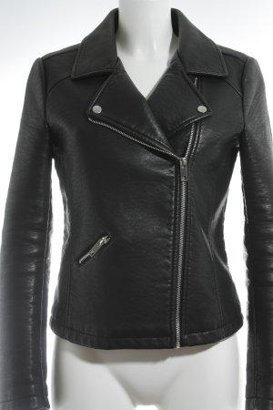 Esprit Lederjacke schwarz Street-Fashion-Look