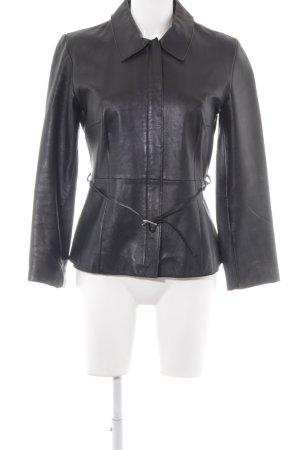 Esprit Lederjacke schwarz Vintage-Look