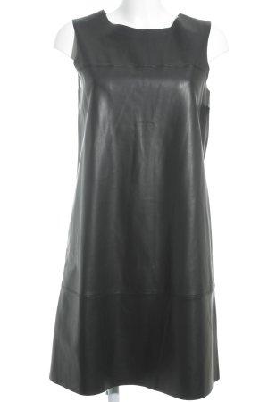 Esprit Leren jurk zwart extravagante stijl