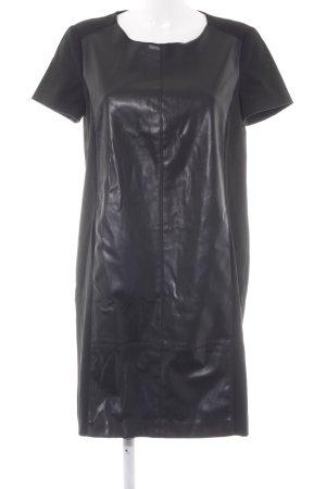 Esprit Lederkleid schwarz schlichter Stil
