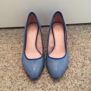 Esprit Lederpumps,Blau,Größe 38