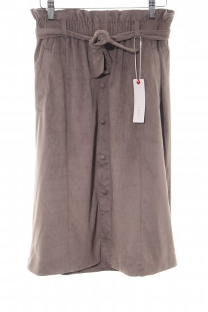 Esprit Leather Skirt brown casual look