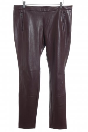 Esprit Leggings braunrot Biker-Look