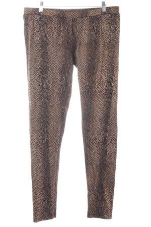 Esprit Leggings schwarz-bronzefarben abstraktes Muster 80ies-Stil