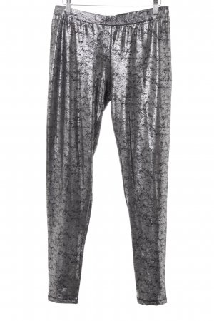 Esprit Leggings black-silver-colored extravagant style