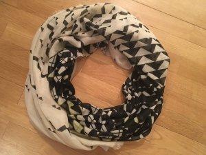 Esprit leichter Schal Tuch schwarz weiß
