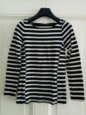 Esprit leichter Sommerpulli Pullover gestreift schwarz weiß Baumwolle Gr. XS / 34