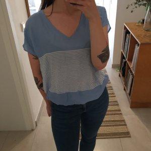 Esprit leichtes sommerliches Top Shirt mit Streifen hellblau
