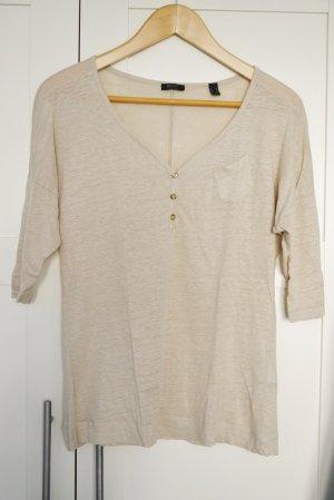 Esprit Leinen Shirt Pulli beige M w. NEU