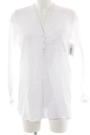 Esprit Blusa de lino blanco look casual