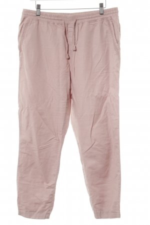 Esprit Pantalon en lin vieux rose style décontracté