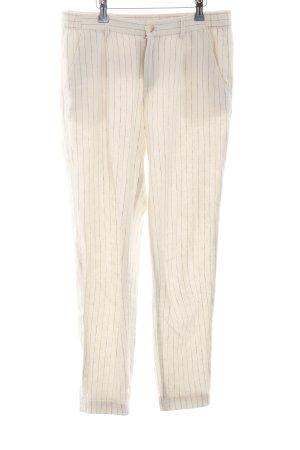 Esprit Pantalón de lino beige claro-azul raya diplomática look casual