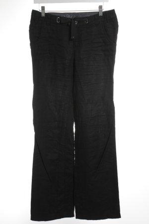 Esprit Pantalon en lin noir style décontracté
