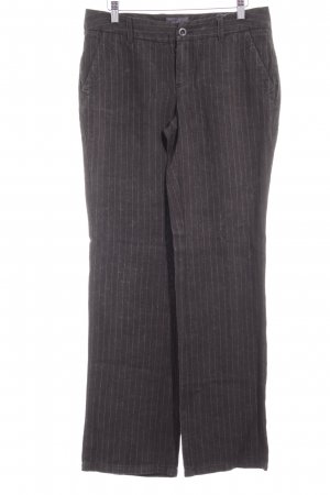 Esprit Linen Pants taupe-grey pinstripe business style
