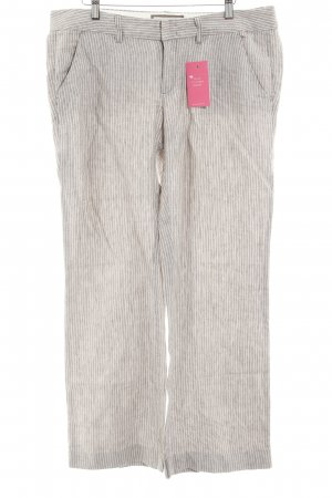 Esprit Linen Pants white-light brown striped pattern casual look