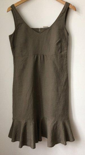Esprit Leinenkleid, Khaki Grün, Größe 34