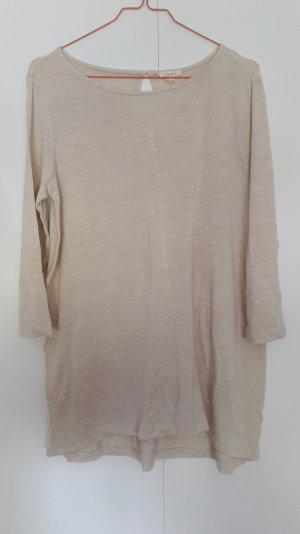 Esprit locker geschnittenes Jersey-Shirt 3/4-Arm beige Gr. S