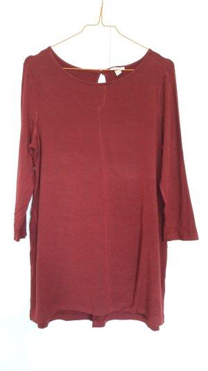 Esprit locker geschnittenes Jersey-Shirt 3/4-Arm weinrot Gr. S