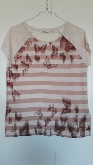 Esprit lockeres Shirt kurzarm Leinen-Mix Print Gr. S