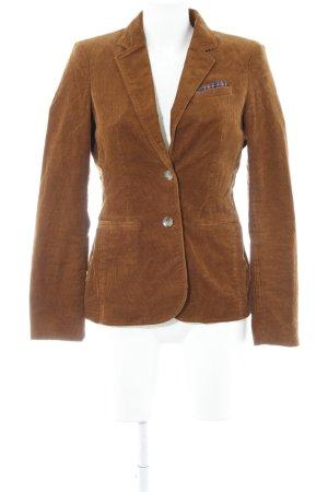 Esprit Lange blazer bruin Britse uitstraling