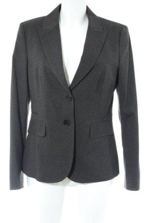 Esprit Long-Blazer dunkelgrau-grau Streifenmuster Business-Look