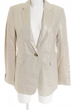 Esprit Long-Blazer goldfarben-creme Glanz-Optik