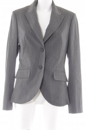 Esprit Long-Blazer grau-weiß Nadelstreifen Business-Look