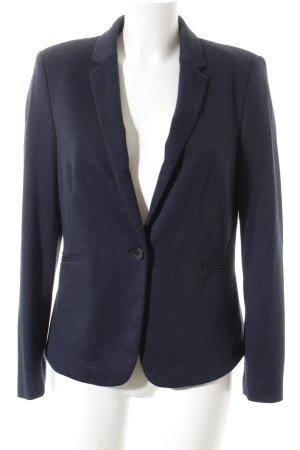 Esprit Long-Blazer schwarz-dunkelblau Karomuster Casual-Look