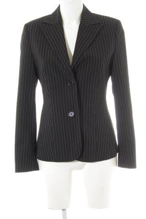 Esprit Lange blazer zwart krijtstreep zakelijke stijl