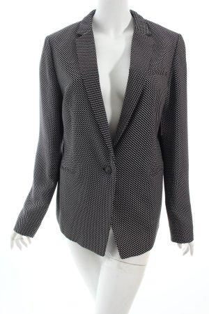 Esprit Long-Blazer schwarz-weiß Hahnentrittmuster Business-Look