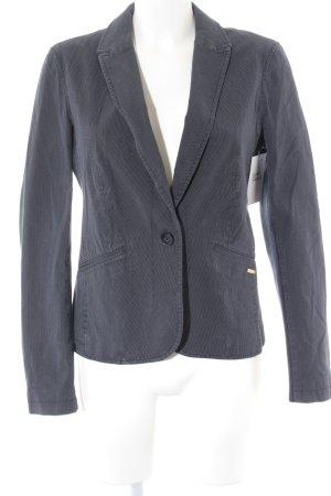 Esprit Long-Blazer stahlblau-weiß Punktemuster Elegant