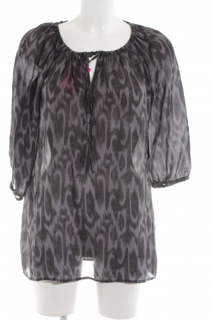 Esprit Long Blouse light grey-black graphic pattern elegant