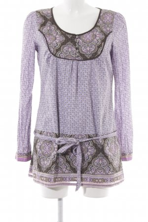 Esprit Long Blouse mauve-grey brown abstract pattern extravagant style