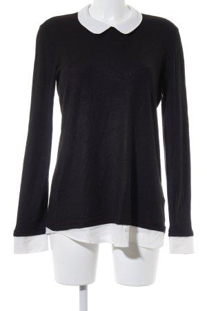 Esprit Long-Bluse schwarz-weiß Casual-Look