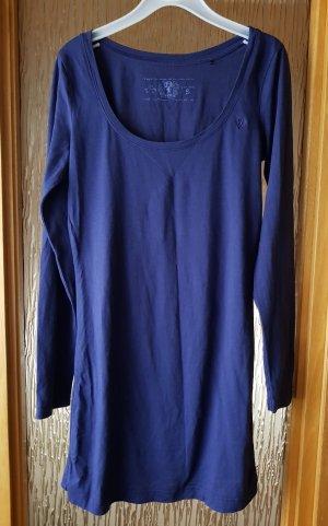 Esprit Long Shirt Langarmshirt blau-lila XS (S) Basic